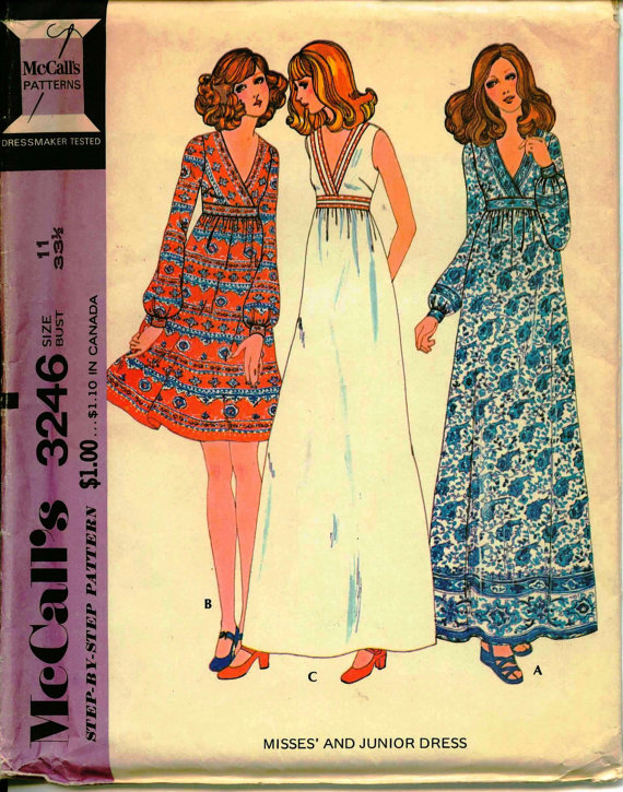 6e0b9b2066 McCall 3246. Or just go all-out hippy with this fabulous maxi dress. Look  at that thing! That s a dress that s begging to be lived in all summer long.