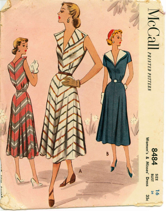 8f49ed106a McCall 8484. This little collared dress is just asking to be made up in a  fun striped cotton.