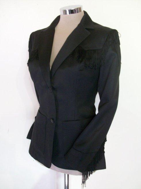 fringe suit jacket