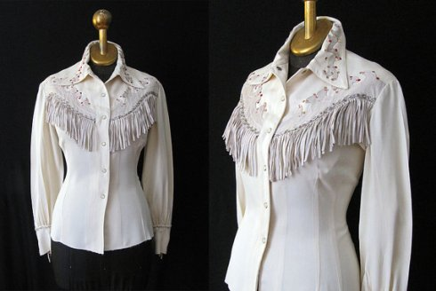 western shirt fringe