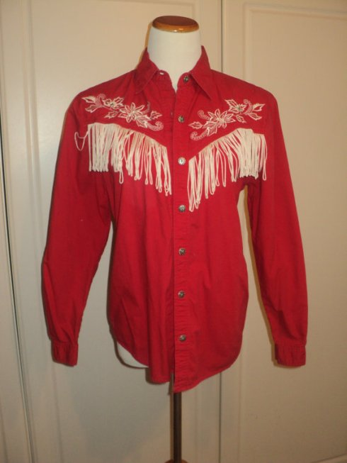 western shirt red